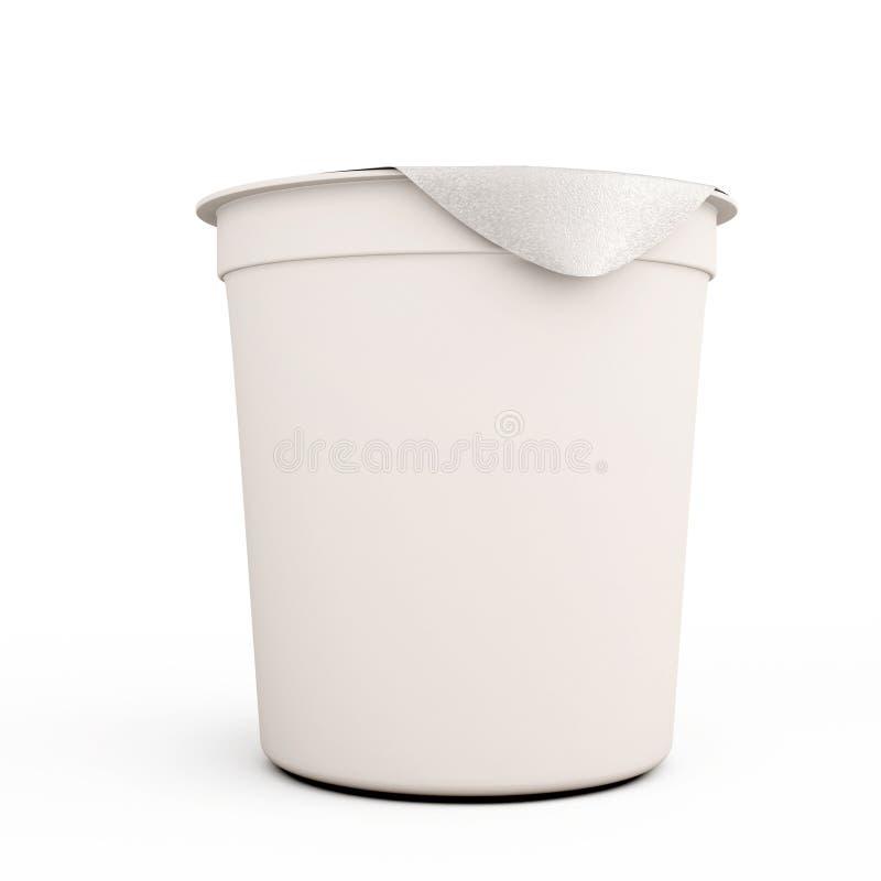 Белое kontener еды для конца-вверх югуртов бесплатная иллюстрация