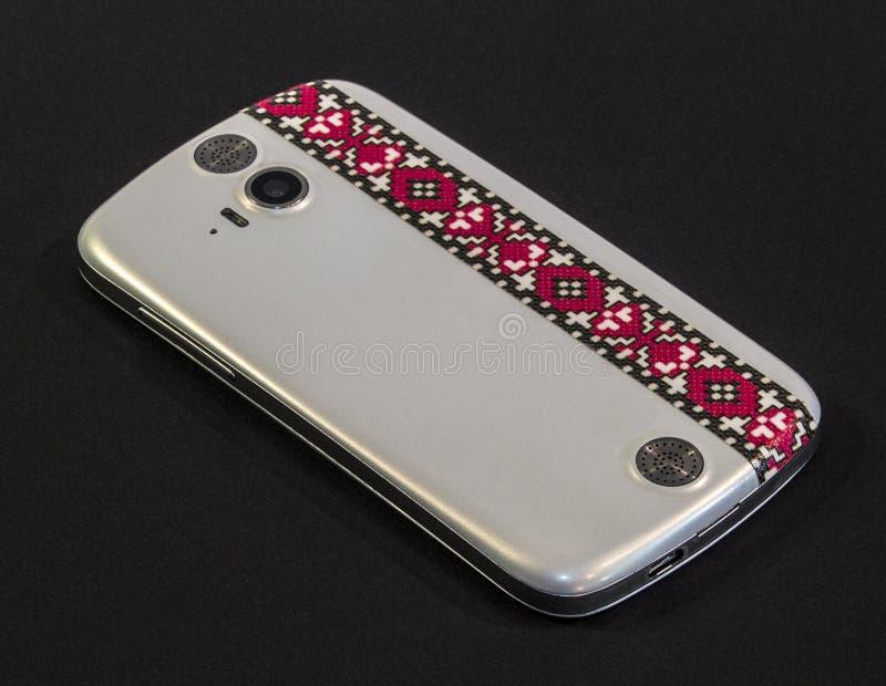 Белое Smartphone стоковые фотографии rf