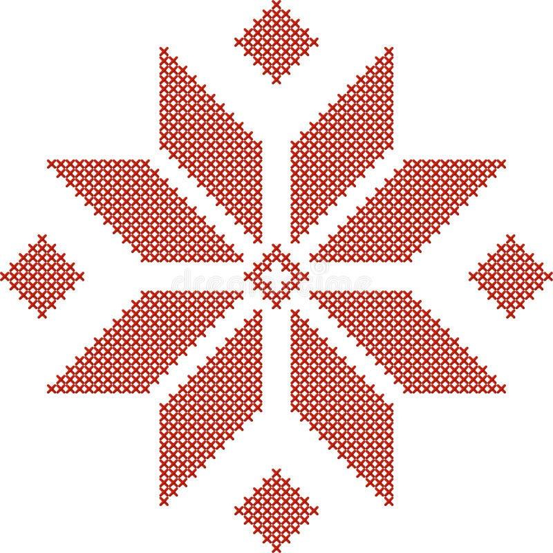 Белорусская традиционная вышитая картина иллюстрация вектора