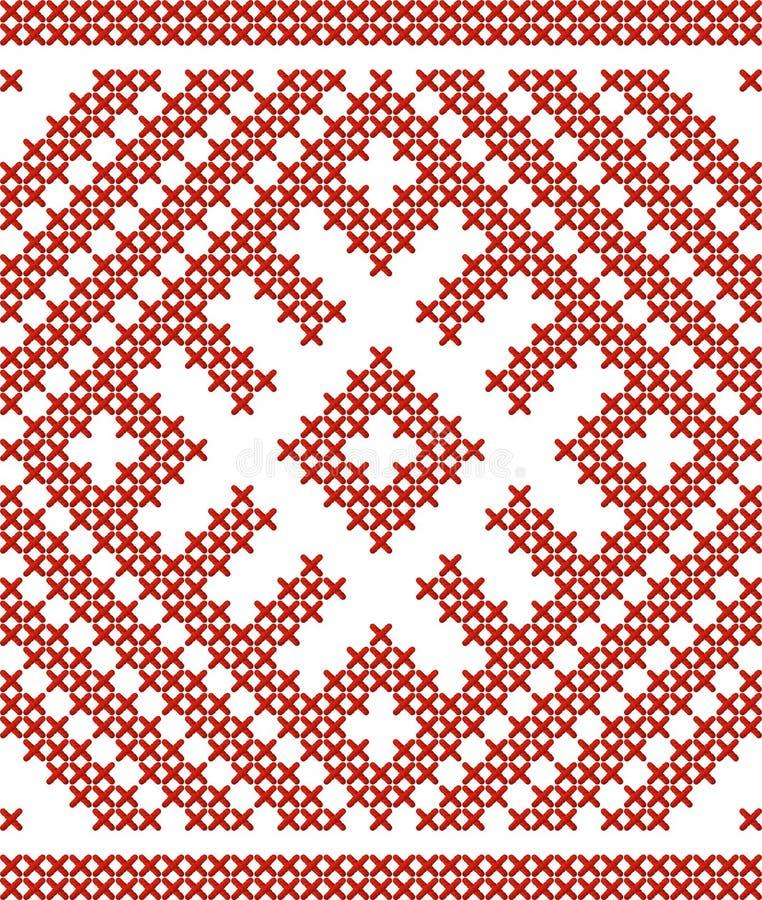 Белорусская традиционная вышитая картина иллюстрация штока