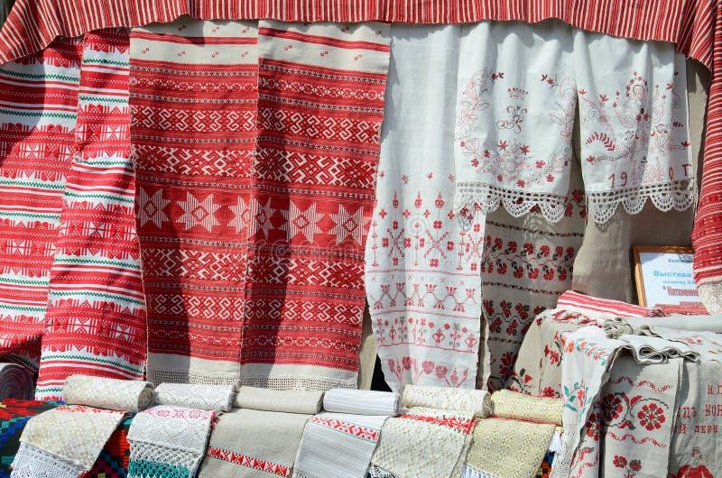 Белорусские полотенца стоковое изображение rf
