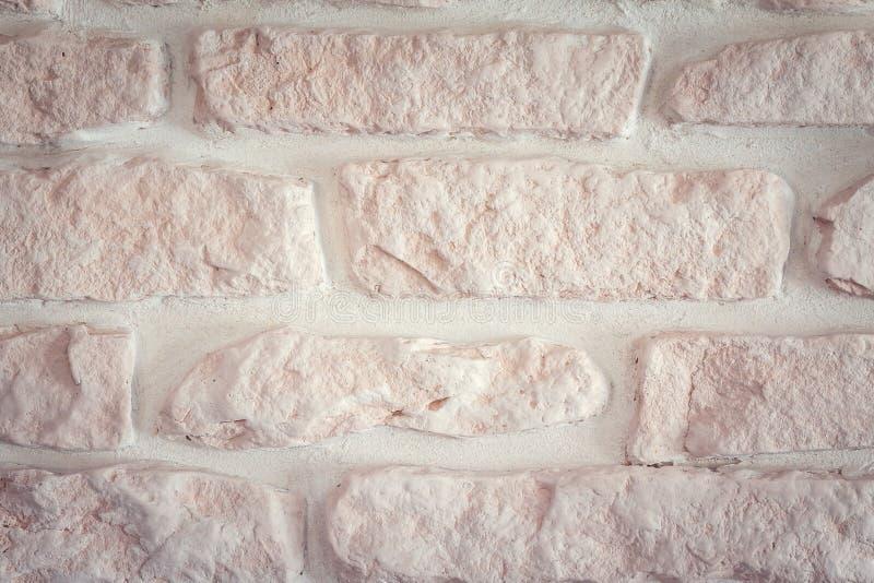 Бело-розовая кирпичная стена стоковое изображение rf