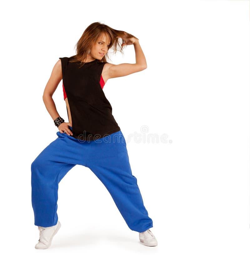 Бедр-хмель танцев маленькой девочки стоковая фотография