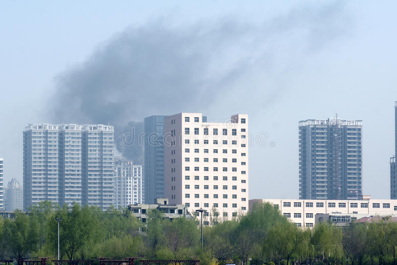 Бедствие пожара стоковая фотография