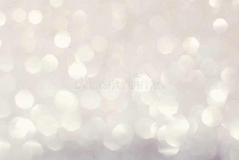 белые блестящие света рождества стоковые изображения