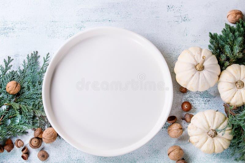Белые декоративные тыквы стоковая фотография rf