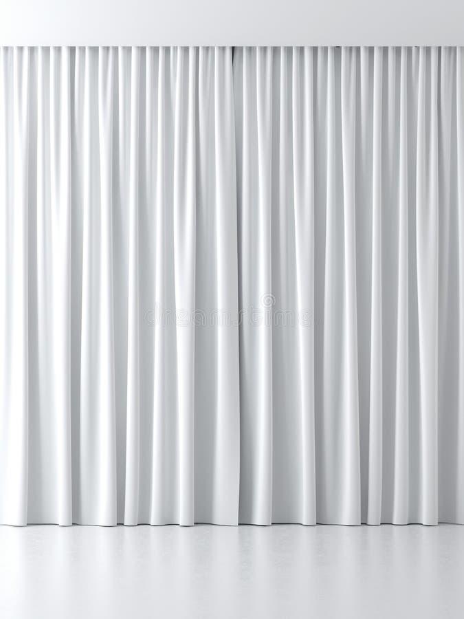 Белые занавесы бесплатная иллюстрация