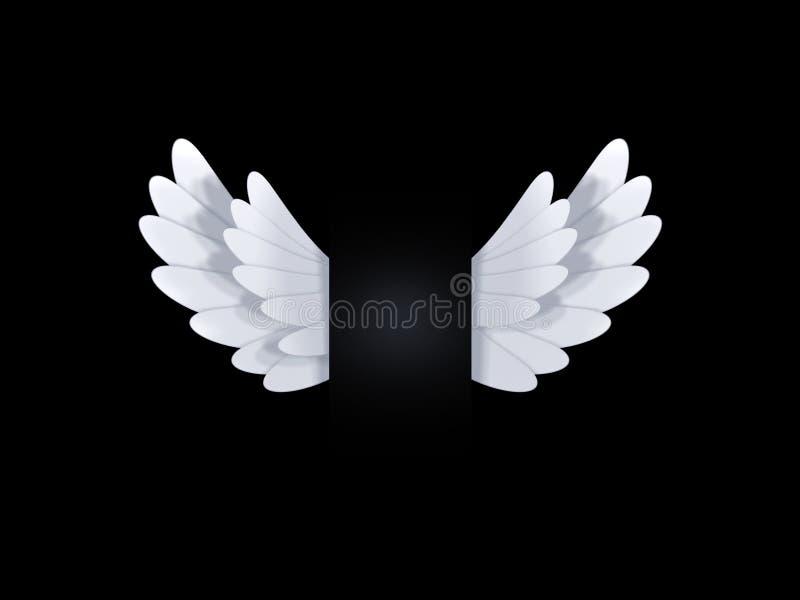 Белые крыла иллюстрация штока