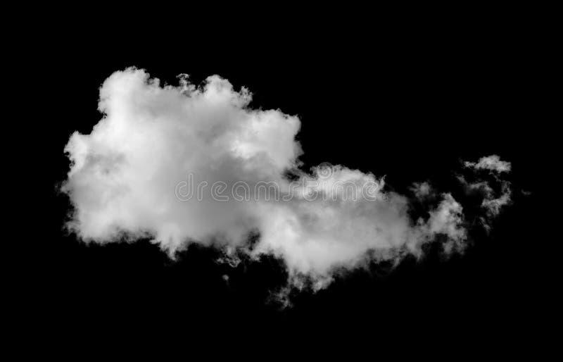 Белые облака на черноте стоковое фото rf
