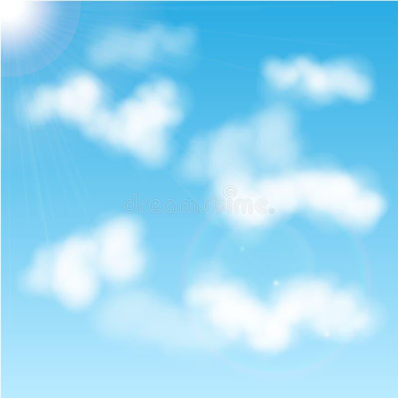 Белые облака иллюстрация штока