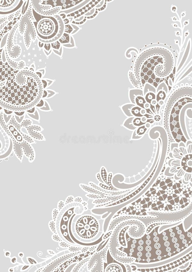 Белые предпосылки шнурка углы иллюстрация вектора