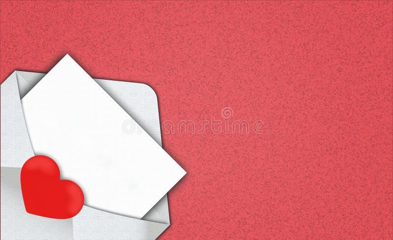 Белые раскрытые конверты и шаблон письма место для дизайна a стоковые изображения rf