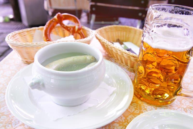 Белые сосиски Мюнхена стоковые фотографии rf