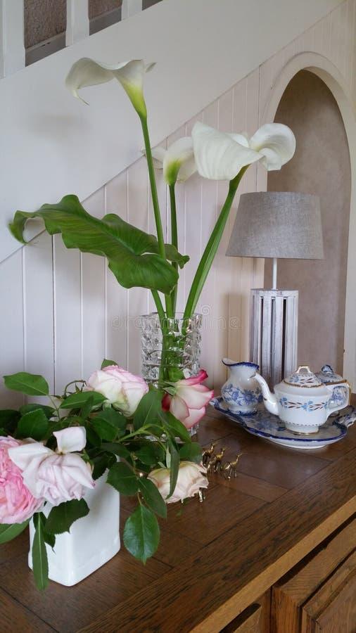 Белые lillies arum стоковое изображение