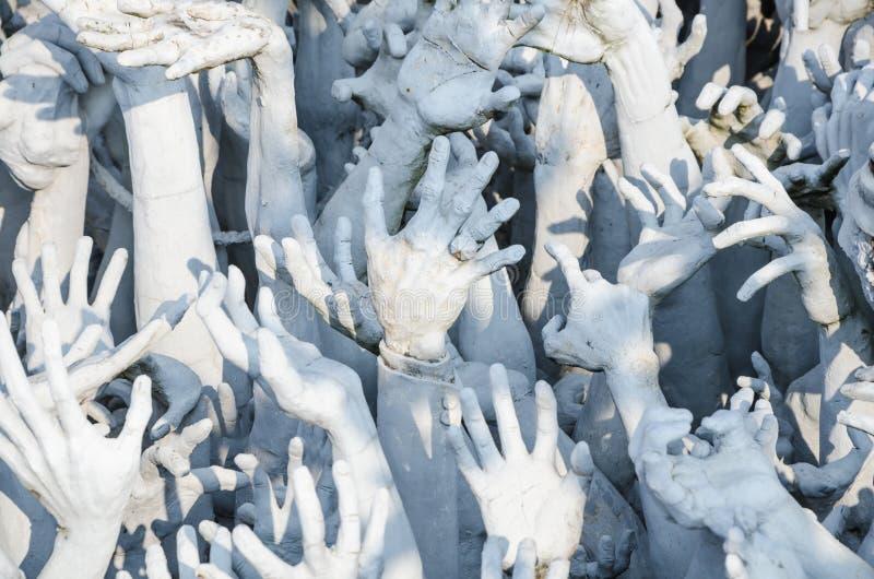 Белый ад формы руки стоковые изображения rf