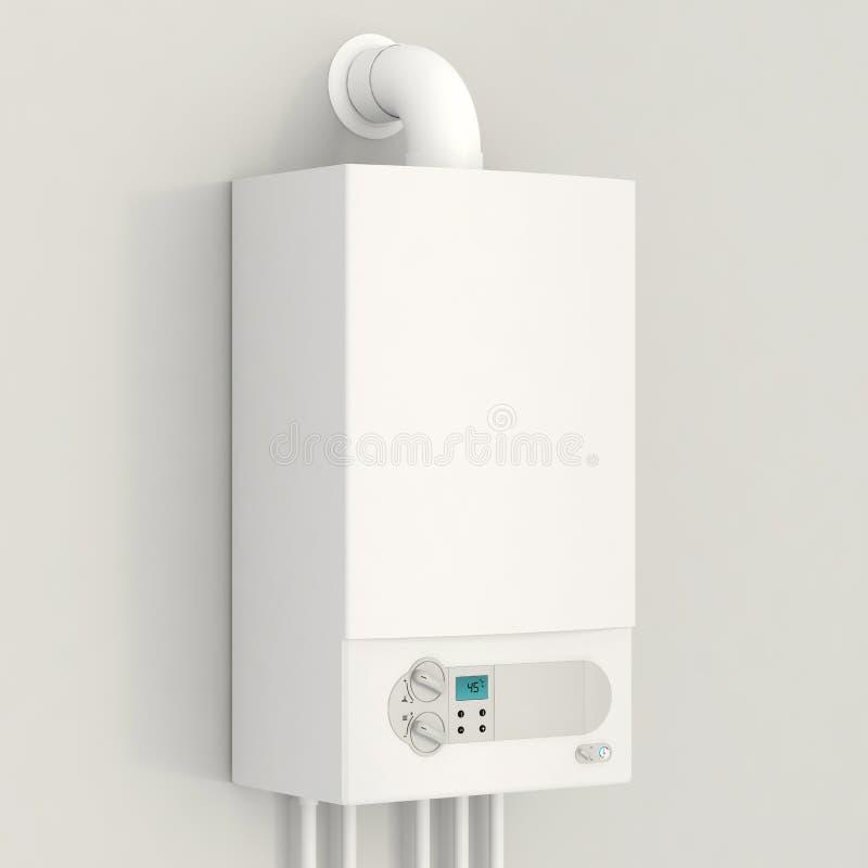 Белый боилер газа. бесплатная иллюстрация