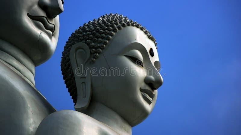 Белый Будда стоковое изображение
