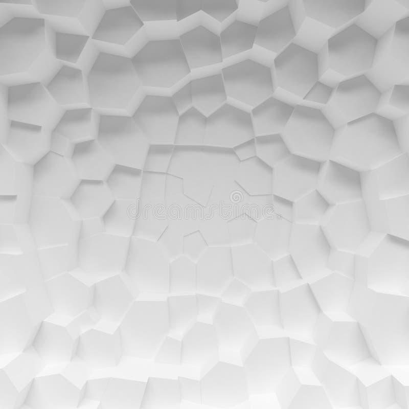 Белый геометрический абстрактный фон полигонов стоковое изображение rf