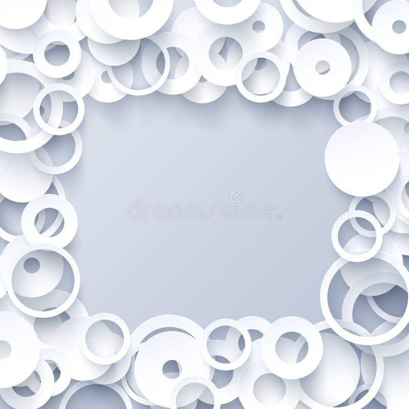 Белый геометрический шаблон иллюстрация штока