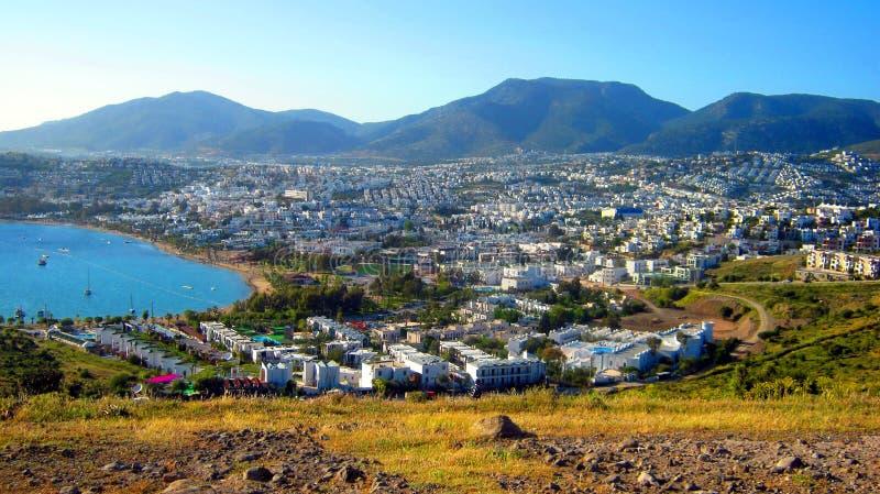 Белый город Bodrum в Турции стоковое изображение rf