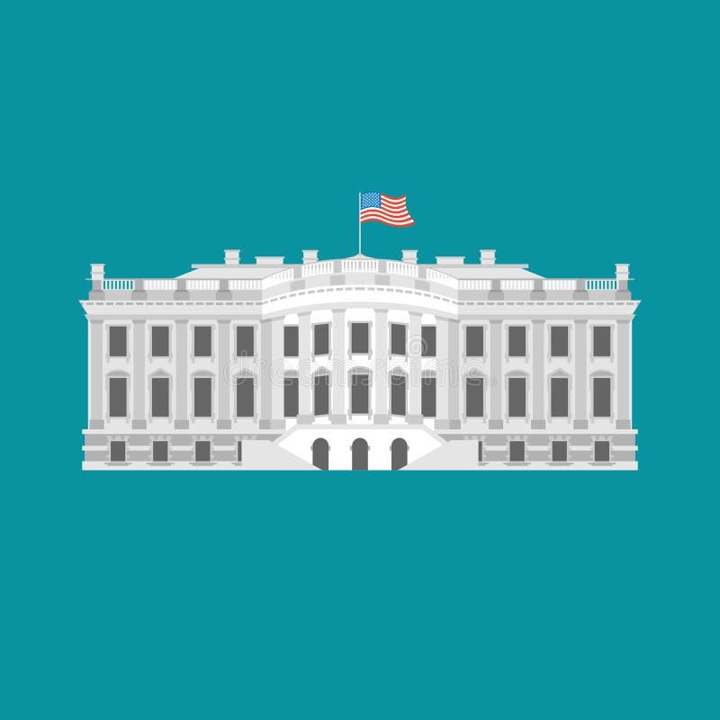 Белый Дом Америка Резиденция президента США Правительство b США иллюстрация штока