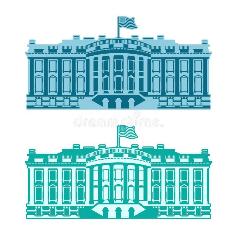 Белый Дом Америка Резиденция президента США бесплатная иллюстрация