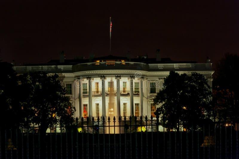 Белый Дом на ноче вашингтон dc стоковая фотография