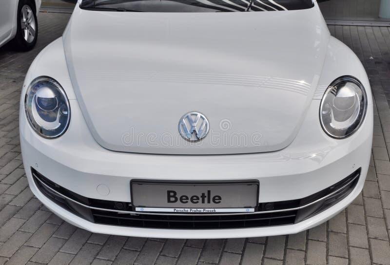 Белый жук Wolkswagen стоковая фотография rf