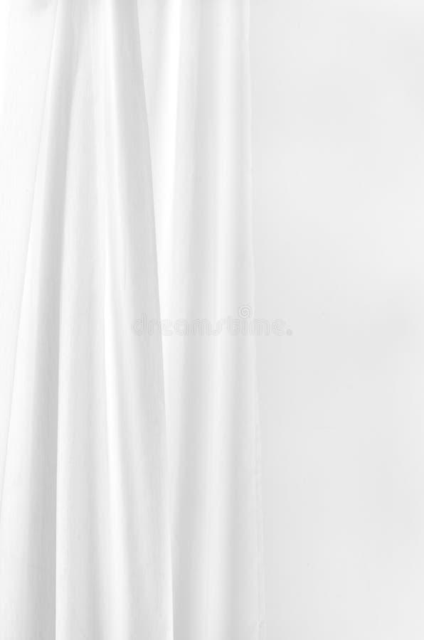 Белый занавес стоковое изображение rf