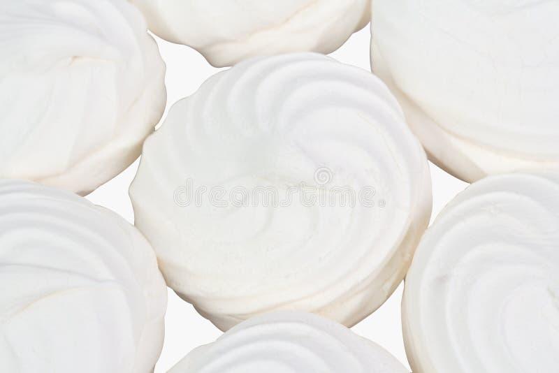 Белый зефир как фон стоковое фото