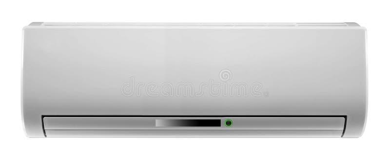 Белый изолированный кондиционер воздуха стоковое фото rf