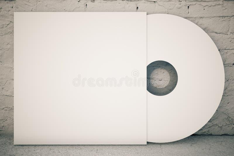 Белый диск КОМПАКТНОГО ДИСКА бесплатная иллюстрация