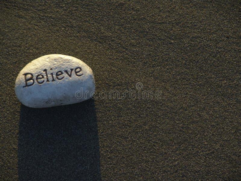 Белый камень аффирмации стоковая фотография rf