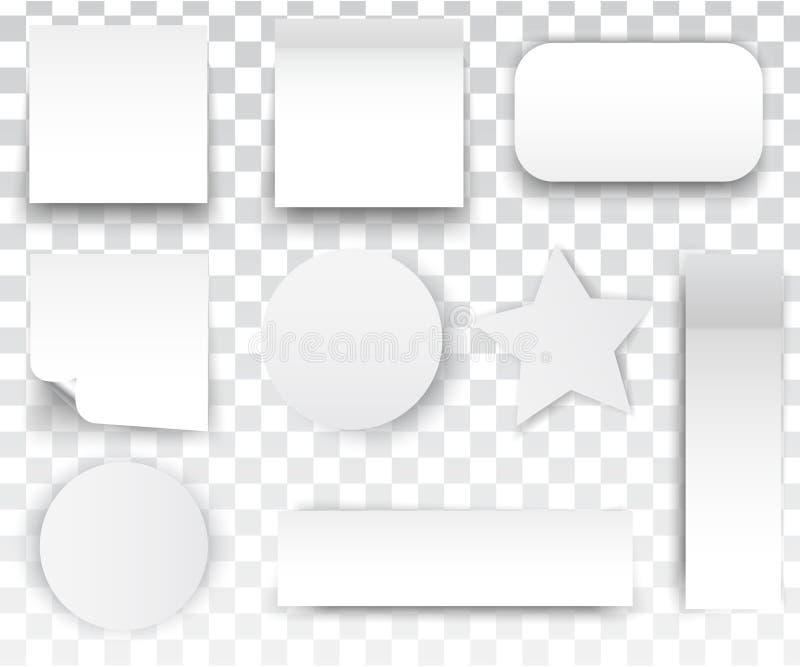 Белый квадрат стикеров бесплатная иллюстрация