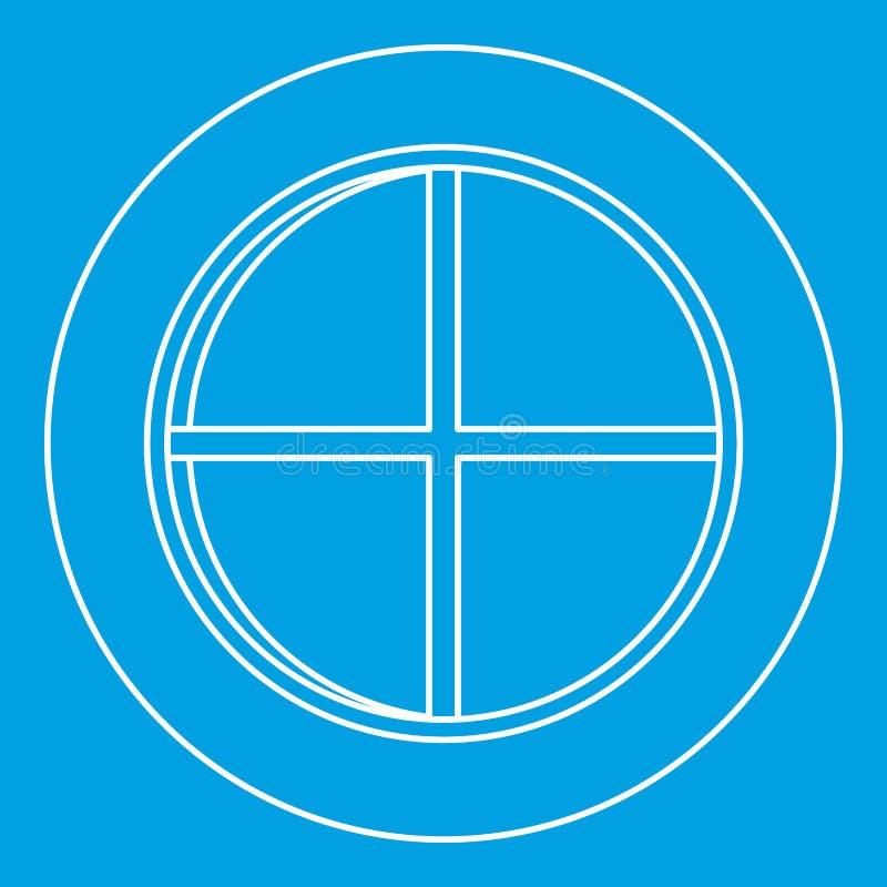 Белый круглый план значка окна бесплатная иллюстрация