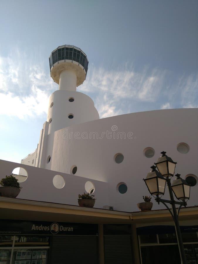 Белый маяк стоковые фото