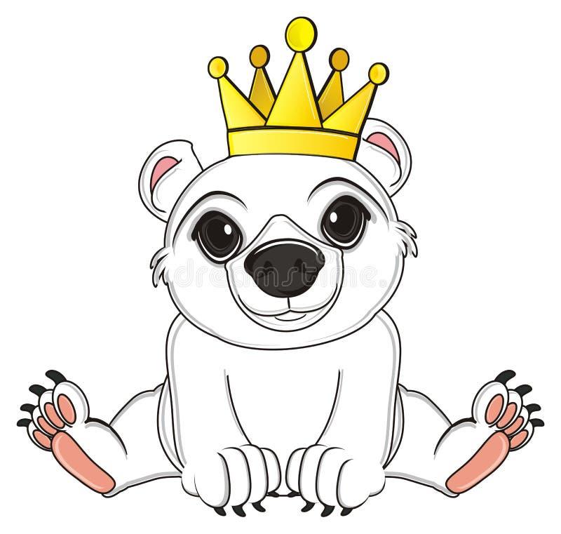 Белый медведь в кроне иллюстрация штока