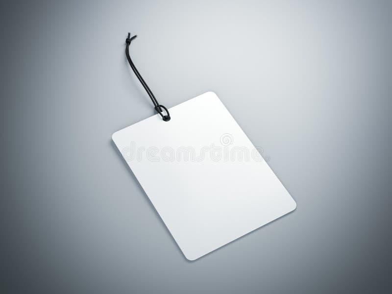 Белый пустой ярлык перевод 3d стоковая фотография rf