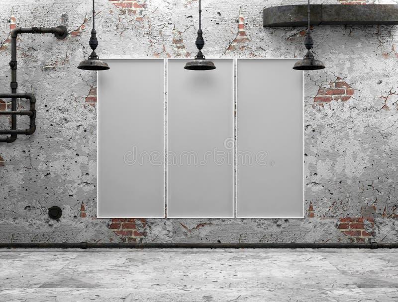 Белый фон в комнате иллюстрация штока