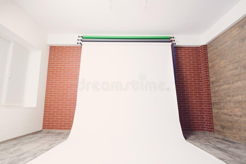Белый фон Photostudio стоковая фотография rf