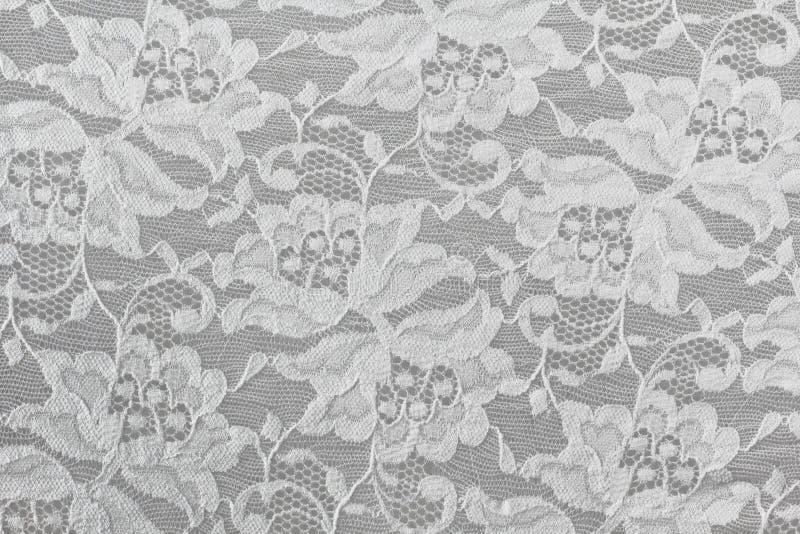 Белый флористический шнурок стоковая фотография rf