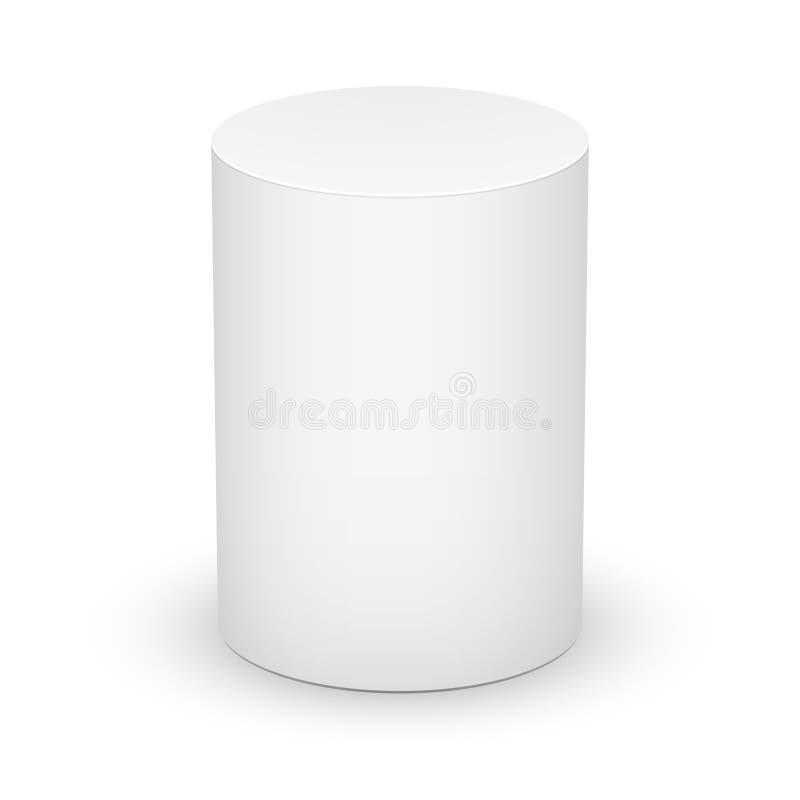 Белый цилиндр на белой предпосылке. бесплатная иллюстрация