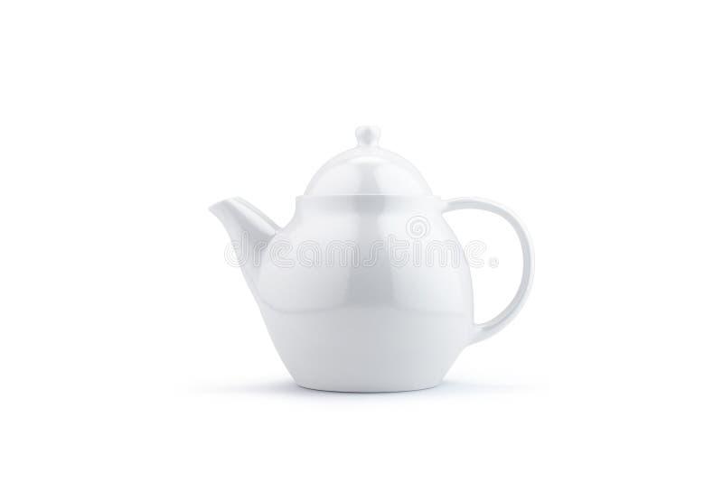 Белый чайник на белизне бесплатная иллюстрация