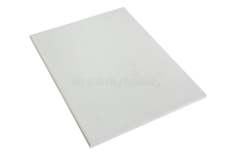 Белый шаблон корпоративного отчета пустой стоковые изображения rf