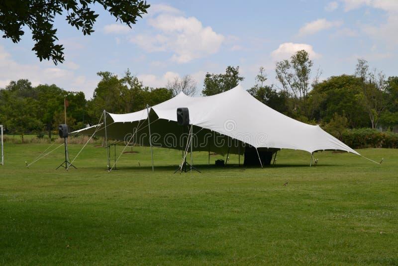 Белый шатер партии стоковое фото rf