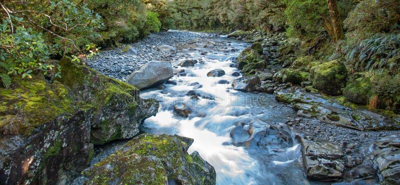 Белый шелковистый поток реки стоковое фото