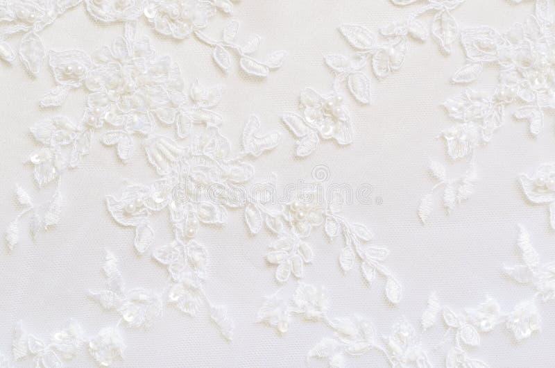Белый шнурок венчания стоковое фото rf