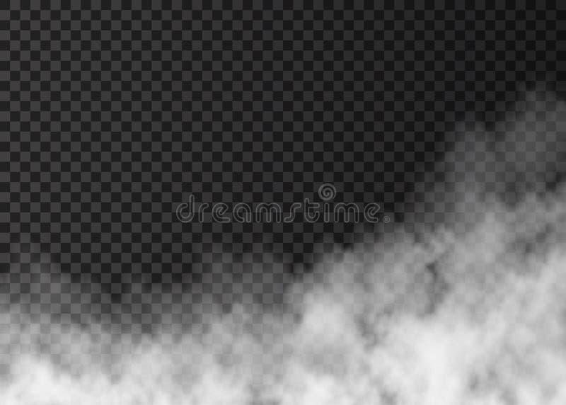 Белый дым огня изолированный на прозрачной предпосылке бесплатная иллюстрация