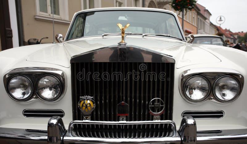 Белый Rolls Royce стоковое фото