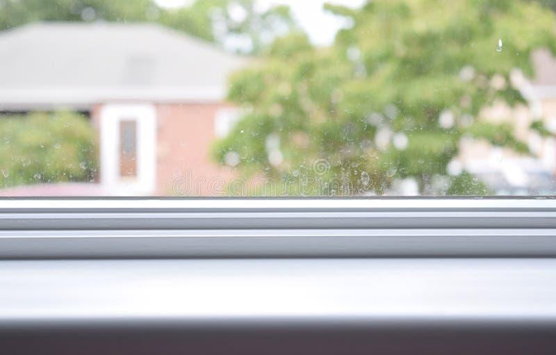 Белый windowsill стоковые фотографии rf